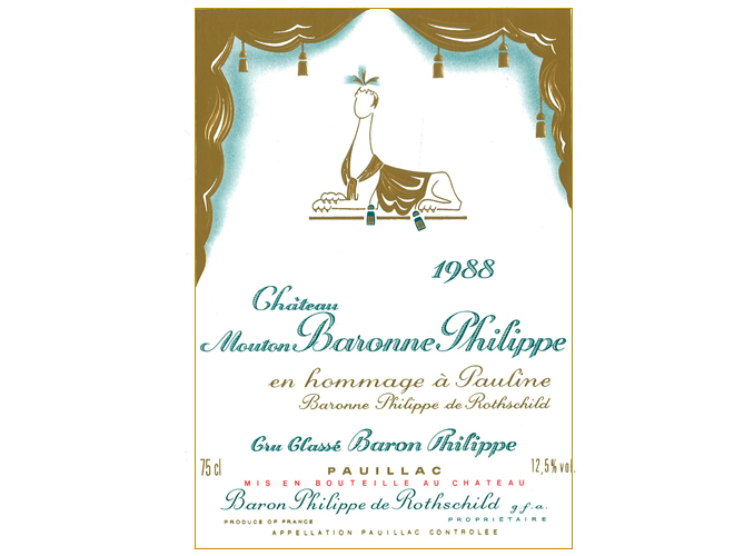 <p>From 1956 to 1988 the wine was called Mouton Baron Philippe, then Mouton Baronne Philippe.</p>